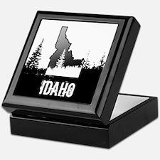 Idaho: Black and White Keepsake Box