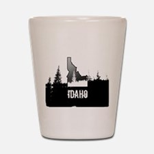 Idaho: Black and White Shot Glass