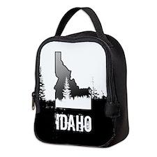 Idaho: Black and White Neoprene Lunch Bag