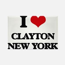 I love Clayton New York Magnets