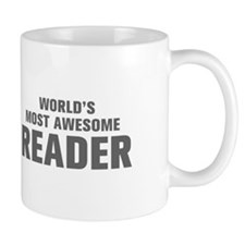 WORLDS MOST AWESOME Reader-Akz gray 500 Mugs
