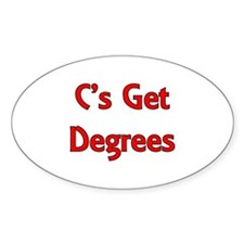 C Gets Degree Oval Stickers