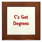 C Gets Degree Framed Tile