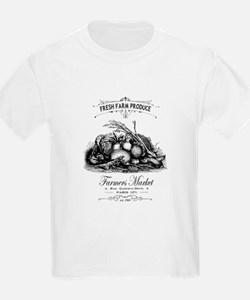 Modern vintage French vegetables T-Shirt
