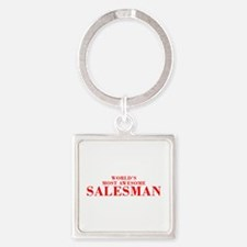 WORLDS MOST AWESOME Salesman-Bod red 300 Keychains