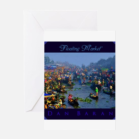 Floating Market Greeting Cards