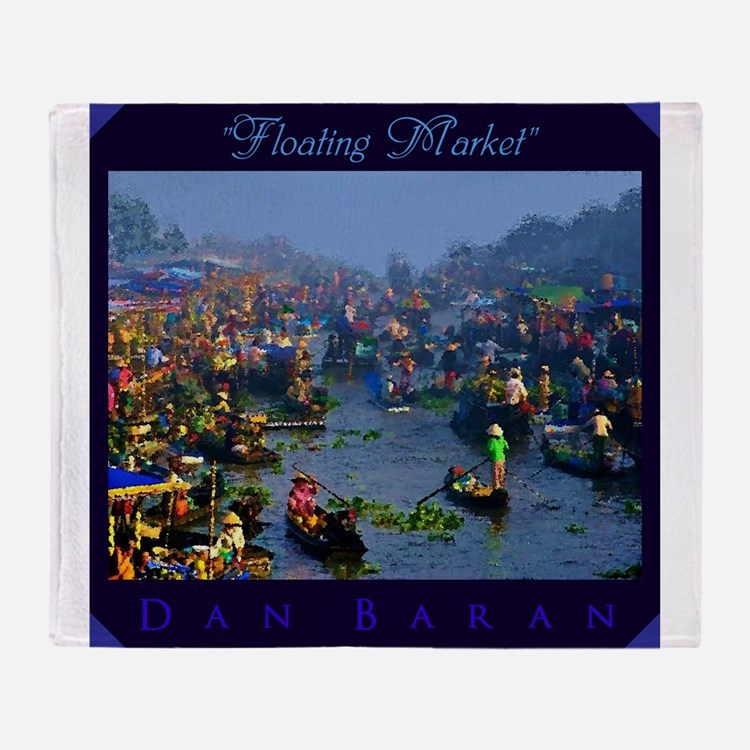 Floating Market Throw Blanket