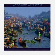 Floating Market Tile Coaster