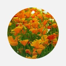 Field of Poppies Round Ornament