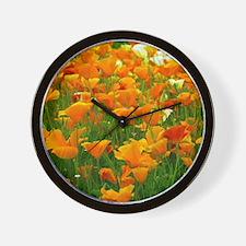 Field of Poppies Wall Clock