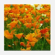 Field of Poppies Tile Coaster