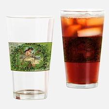 vintage St Patricks Day Drinking Glass