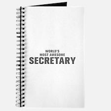 WORLDS MOST AWESOME Secretary-Akz gray 500 Journal