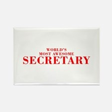WORLDS MOST AWESOME Secretary-Bod red 300 Magnets