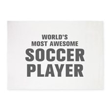 WORLDS MOST AWESOME Soccer Player-Akz gray 300 5'x
