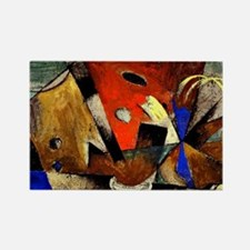 Abstract Composition Rectangle Magnet