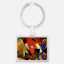 Abstract Composition Landscape Keychain