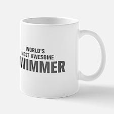 WORLDS MOST AWESOME Swimmer-Akz gray 500 Mugs