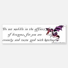 dragons Bumper Bumper Bumper Sticker