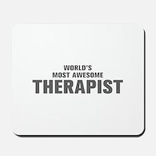 WORLDS MOST AWESOME Therapist-Akz gray 500 Mousepa