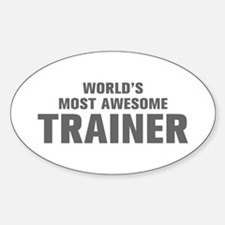 WORLDS MOST AWESOME Trainer-Akz gray 500 Decal