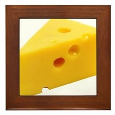 Cheese Wedge Framed Tile