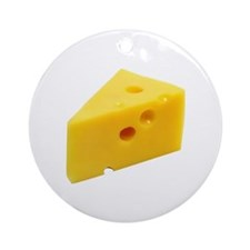 Cheese Wedge Round Ornament