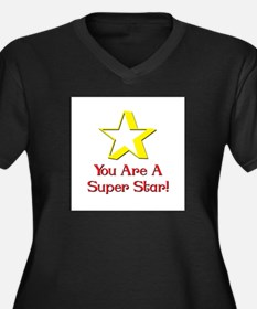 superstar.png Women's Plus Size V-Neck Dark T-Shir