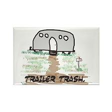 trailer trash, humor, adult Rectangle Magnet (100