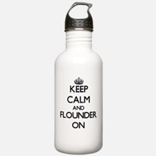 Keep calm and Flounder Water Bottle