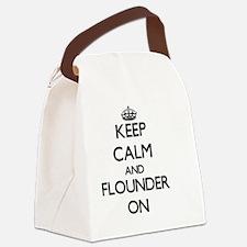 Keep calm and Flounder ON Canvas Lunch Bag