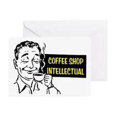 COFFEE SHOP INTELLECTUAL Greeting Cards (Pk of 20)