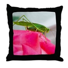 Helaine's Grasshopper Throw Pillow