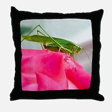 Helaine's Grasshopper Throw Pillow