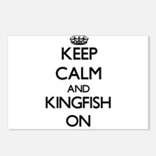 Keep calm and Kingfish ON Postcards (Package of 8)