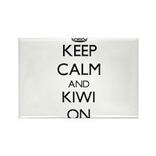 Keep calm and Kiwi ON Magnets