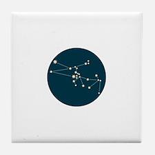 Taurus Constellation Tile Coaster