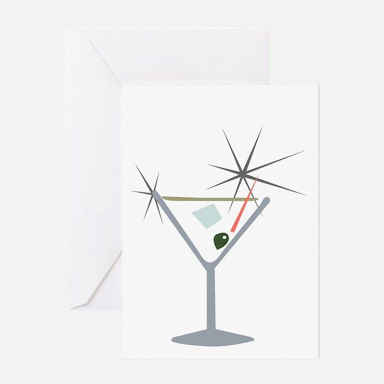 Partini Retro Lounge Greeting Card
