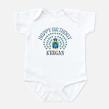 Happy Birthday KEEGAN (peacoc Infant Bodysuit