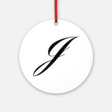 J-Lou black Ornament (Round)