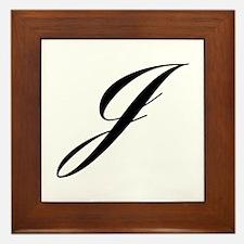 J-Lou black Framed Tile