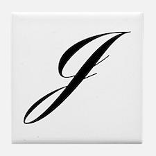 J-Lou black Tile Coaster