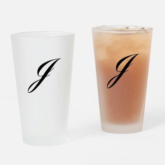 J-Lou black Drinking Glass