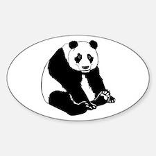 Giant Panda Oval Decal