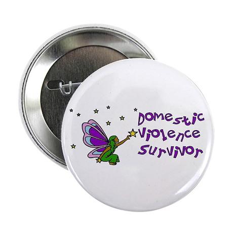 """Domestic Violence Survivor 2.25"""" Button (10 pack)"""