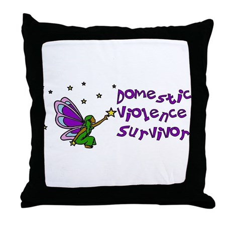 Domestic Violence Survivor Throw Pillow