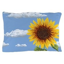 Sunflower morning Pillow Case