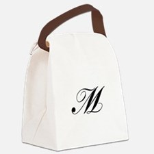 M-Lou black Canvas Lunch Bag