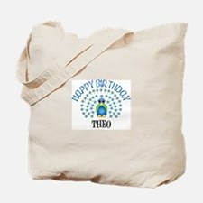 Happy Birthday THEO (peacock) Tote Bag