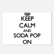 Keep calm and Soda Pop ON Postcards (Package of 8)